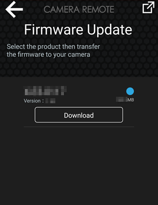 Updating Camera Firmware from a Smartphone